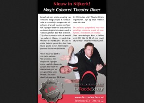 Advertentie voor krant en web-pagina