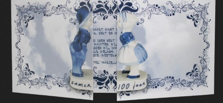 Uitnodiging in Delfs Blauw stijl