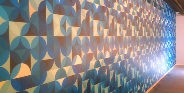 Airtex naadloos behang uit 1 stuk